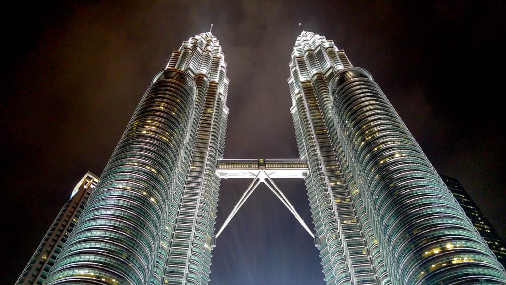Petronas Twin Towers in de Avond