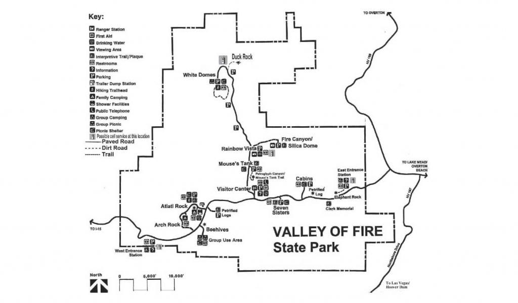 Valley of fire state park route